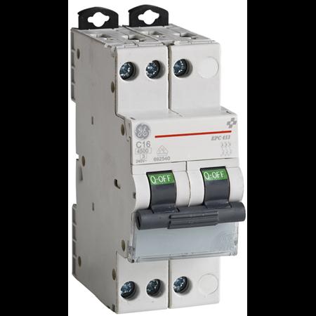 Siguranta automata tripolara in 2 module 16A 4.5ka curba C General Electric