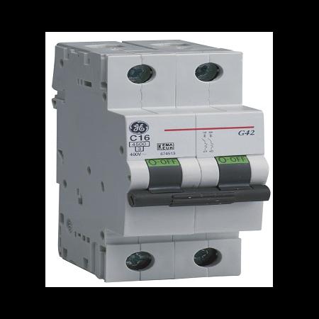 Siguranta automata bipolara G100 2P 50A C 4,5KA General Electric