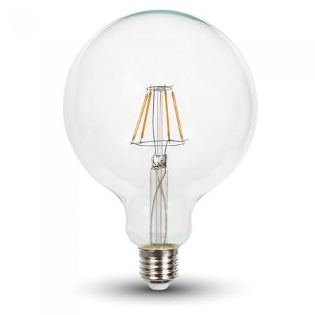 Bec LED Filament,6 w,E27,lumina calda,bulb sticla G125 V-tac