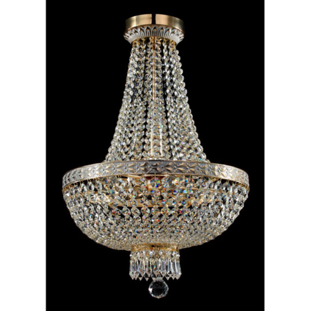 Candelabru Diamant Crystal Bella,7 becuri dulie E14, 230V,D.40cm, H.61 cm,Auriu Maytoni