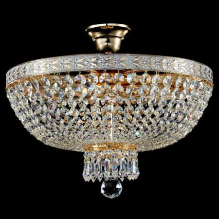 Candelabru Diamant Crystal Bella,6 becuri dulie E14, 230V,D.50cm, H.37 cm,Auriu Maytoni