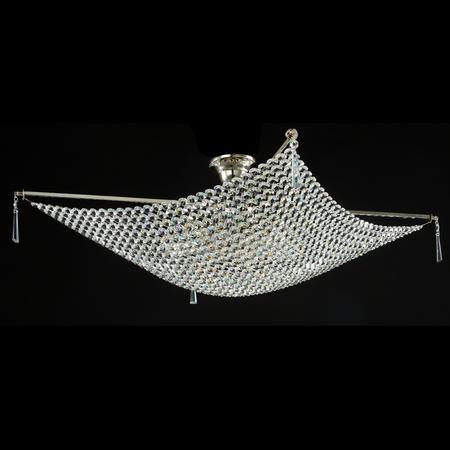 Candelabru Diamant Crystal Croce,8 becuri dulie E27, 230V,L.80cm, H.30 cm,Nichel Maytoni