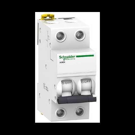 Siguranta automata Bipolara 2P, 4,5kA 25A/C iK60N Schneider