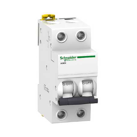 Siguranta automata Bipolara 2P, 4,5kA 63A/C iK60N Schneider