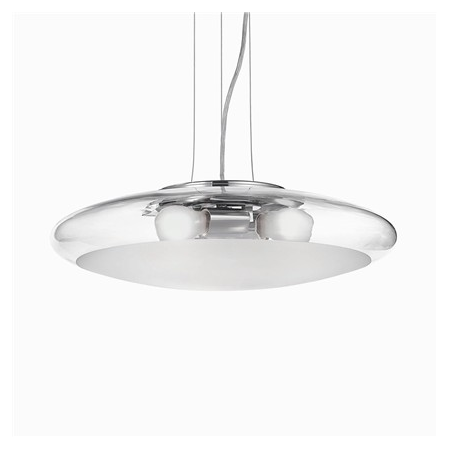 Pendul Smarties Clear D50, 3 becuri, dulie E27, D:500mm, H:240/1060mm, Transparent Ideal Lux