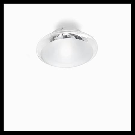 Plafoniera Smarties Clear D33, 1 bec, dulie E27, D:330mm, H:140mm, Transparenta Ideal Lux