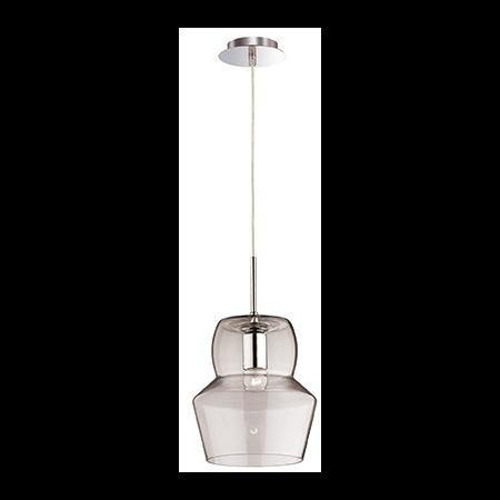 Pendul Zeno Big Trans, 1 bec, dulie E27, D:220mm, H:400/1400mm, Transparent Ideal Lux