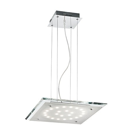 Pendul Pacific, 24 LED, L:450 mm, H:200/1100 mm, Transparent Ideal Lux