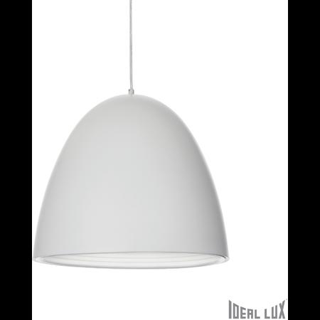 Pendul Din D40, 1 bec, dulie E27, D:400 mm, H:700/1650 mm, Alb Ideal Lux