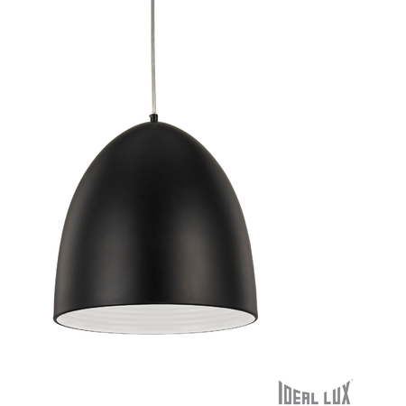 Pendul Din D30, 1 bec, dulie E27, D:300 mm, H:500/1570mm, Negru Ideal Lux