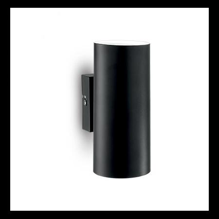 Aplica Hot, 2 becuri, dulie GU10, L:80 mm, H:180 mm, Negru Ideal Lux