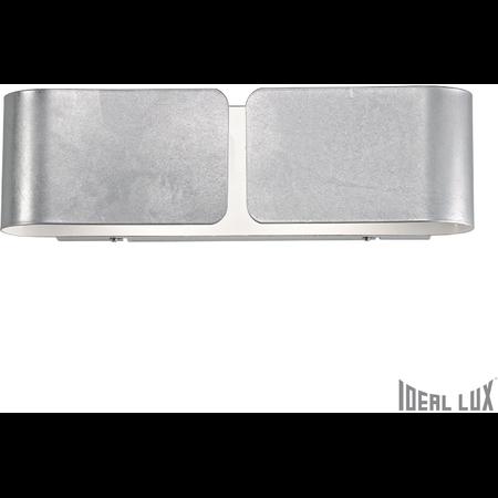 Aplica Clip Mica, 2 becuri, dulie E27, L:440 mm, H:127 mm, Argintiu Ideal Lux