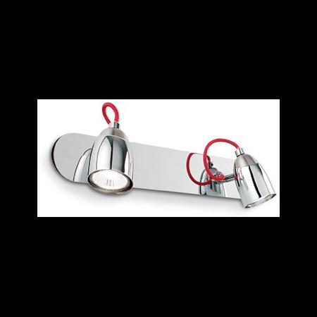 Aplica Pollicino 2 becuri, dulie GU10, L:360 mm, H:150 mm, Crom Ideal Lux