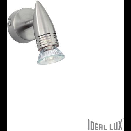 Aplica Alfa 1 bec, dulie GU10, L:60 mm, H:110mm, Nichel Ideal Lux