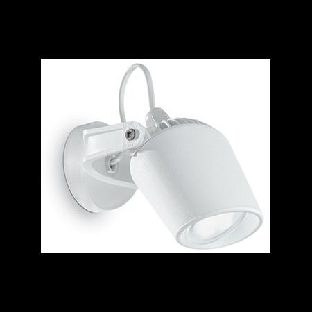 Aplica de exterior Minitommy, 1 bec LED, dulie GU10, L:122 mm, H:127 mm, Alb Ideal Lux