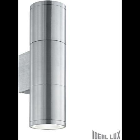 Aplica de exterior Gun Mica, 2 becuri, dulie E27, L:65 mm, H:210 mm, Aluminiu Ideal Lux