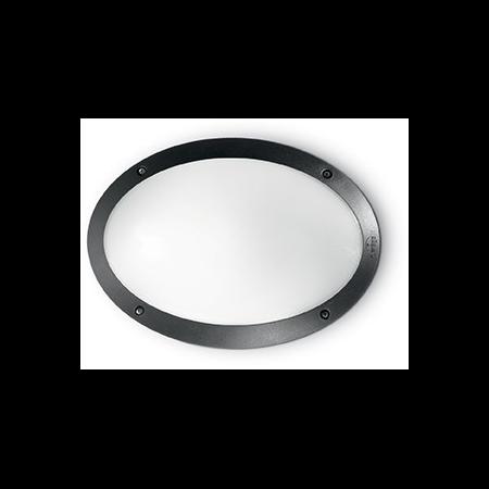 Aplica de exterior Maddi 1, 1 bec, dulie E27, D:330 mm, H:230 mm, Negru Ideal Lux