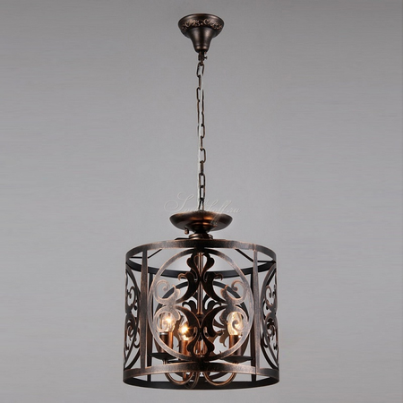 Lampa suspendata  House Rustika,3 x E14, 230V, D.36cm,H.43 cm,Maro inchis Maytoni
