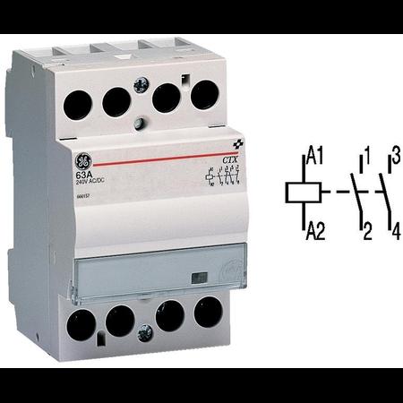contactor modular Contax, 40A, 230V, CA/CC, 3 module, 2ND, Alb General Electric