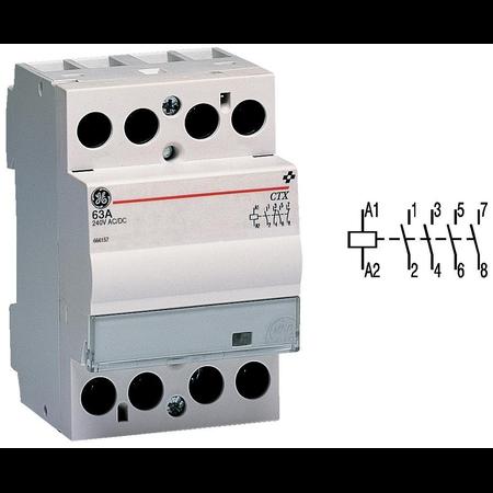 contactor modular Contax, 40A, 24V, CA/CC, 3 module, 4ND, Alb General Electric