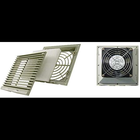 Ventilator cu grilaj si filtru 124X124mm Cavi