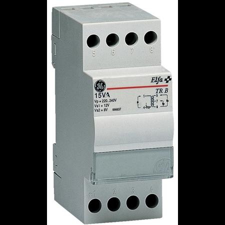 Transformator de sonerie, 15VA 230V-8/12V, 2 module General Electric