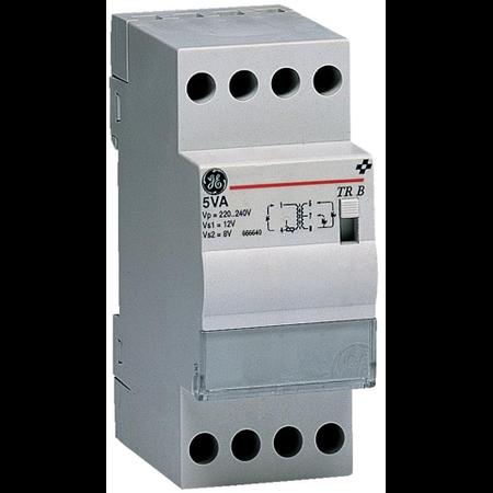 transformator de sonerie comutator integrat de conectare/deconectare, 8VA 230V-8/12V, 2 module General Electric