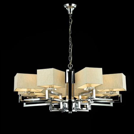 Candelabru Modern Meggapolis,8 becuri dulie E14, 230V,D.84cm, H.38 cm,Nichel Maytoni