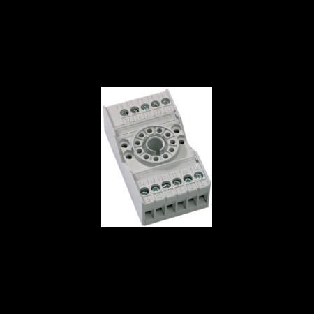 soclu pentru releu fisabil standard 11 pini, 3 contacte comutatoare General Electric