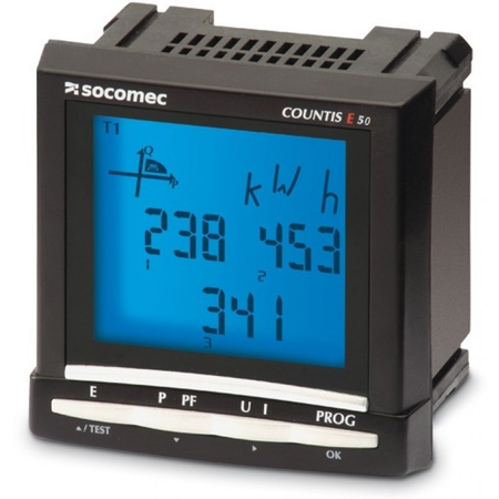 Contor ENERGY METER COUNTIS E50,OUTPUTS (PULSE) Socomec