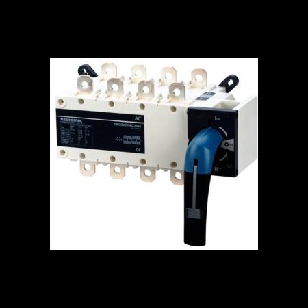 Inversor manual de surse,SIRCOVER 3X800A,operare frontala Socomec