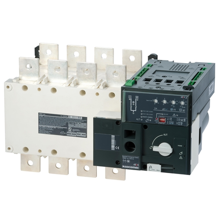 Inversoare de surse motorizate si automate ATyS g 4X3200A,control automat,208/277Vac Socomec