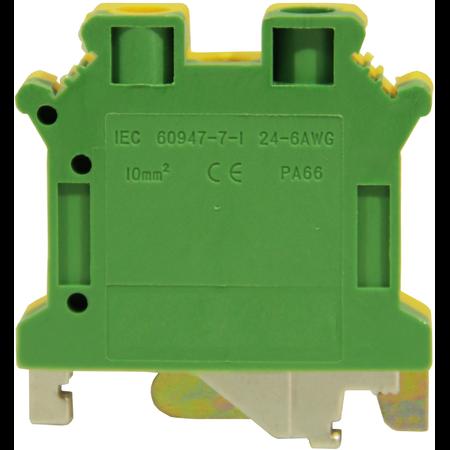 Clema sir 25 mmp  verde galben cu impamantare Comtec