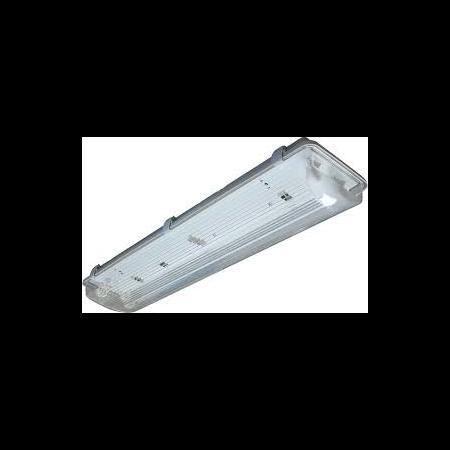 Lampa tehnica medii umede,2 x 18W,tub fluorescent T8 ,IP65,L:66 cm,acril Airfal