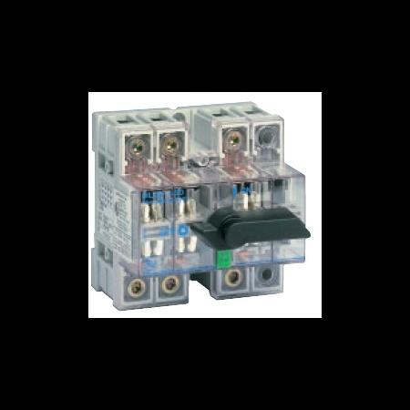 Separator de sarcina cu montare pe sina DIN, 2P, 5 module, transparent, 125A General Electric