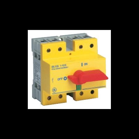 Separator de sarcina cu montare pe sina DIN, 3P, 5 module, rosu/galben, 40A General Electric