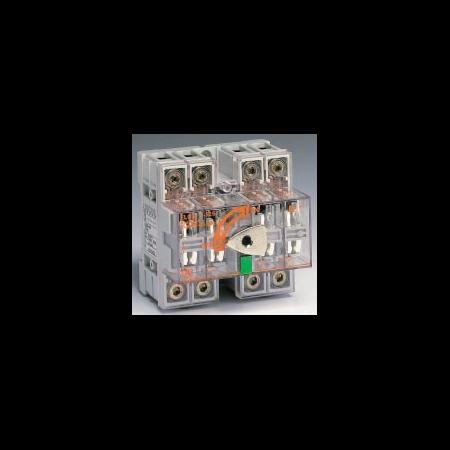 Separator de sarcina cu montare pe sina DIN fara maner pentru panouri electrice, 4P, 5 module, transparent, 63A General Electric