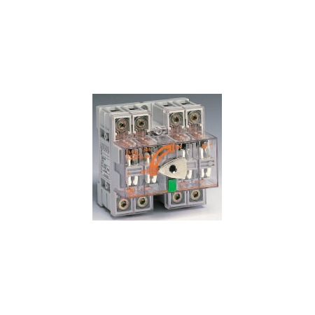 Separator de sarcina cu montare pe sina DIN fara maner pentru panouri electrice, 4P, 5 module, transparent, 100A General Electric