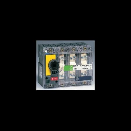 Separator de sarcina cu montare pe panou fara maner, 3P, transparent cu eticheta galbena, 40A General Electric