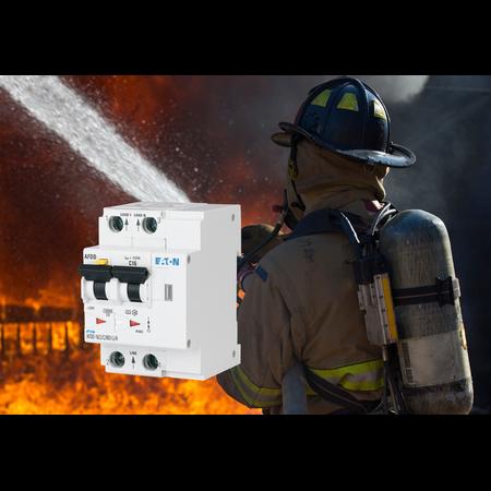 Dispozitiv protectie incendiu cauzat de arc electric 10A 10Ka Bipolar combinat cu diferential 10ma Moeller Eaton