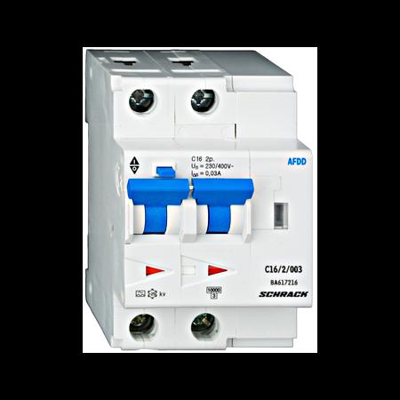 Dispozitiv AFDD protectie incendiu cauzat de arc electric 10A 10Ka Bipolar combinat cu diferential 30ma Schrack