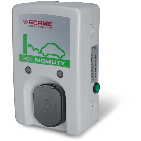 Statie de incarcare autovehicul electric sau hibrid 16A 230V priza tip 2 IP54 Wallbox WB-E Scame