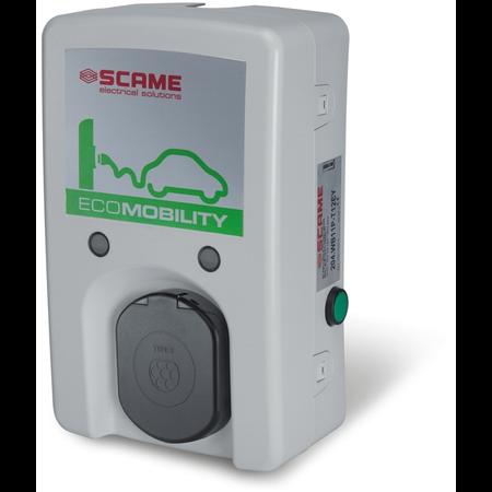 Statie de incarcare autovehicul electric sau hibrid 32A 230V priza tip 2 IP54 Wallbox WB-E Scame