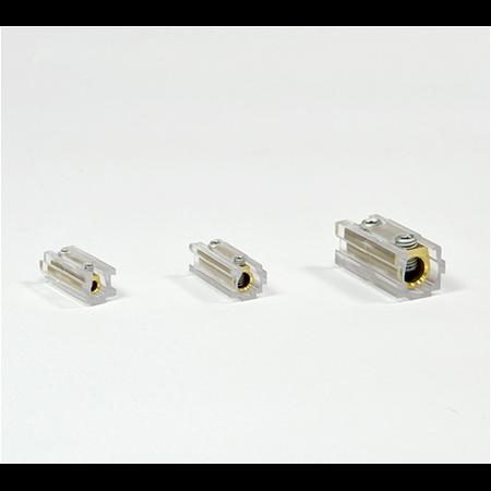 Regleta componibila de trecere cu clema  6mm transparenta Contact Italia