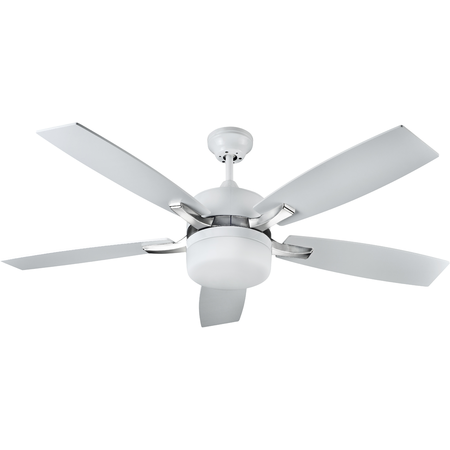 Lustra  cu ventilator 2 becuri , 3 viteze Milenaire  Alb 132cmx32-45cm  Sulion