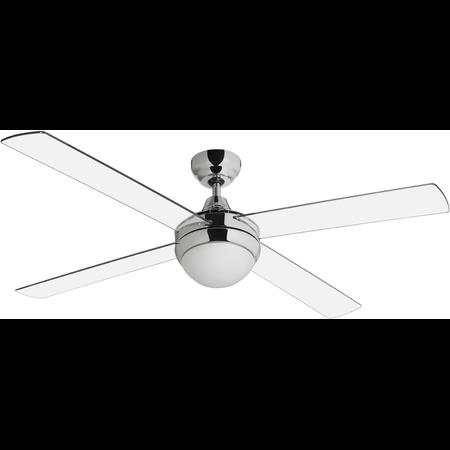 Lustra  cu ventilator 2 becuri E27 3 viteze Cross Transparent  122cmx29-42cm  Sulion