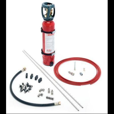 Kit instalatie de sintegere incendiu in tablou electric 7.5mc 10 litri CO2 Firedetec