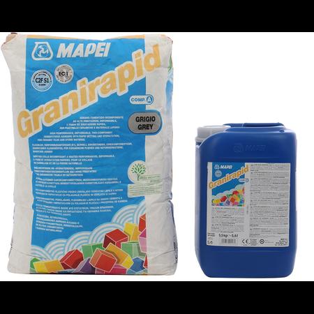 Granirapid Adeziv bicomponent pe baza de ciment si polimer lichid pentru incalzire in pardoseala Mapei