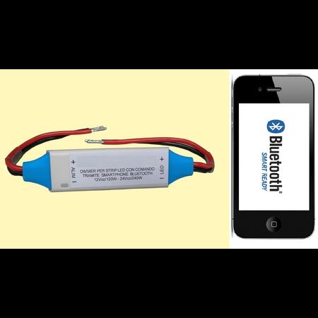 Dimmer ( variator) banda led 12V / 24V 144/288w monocolor control Bluetooth Cavi
