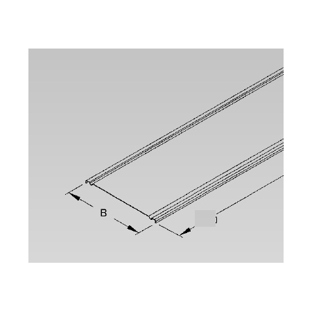 Capac pentru jgheab, 100 mm, unghi de înclinare de 7,5 ° inox Niedax